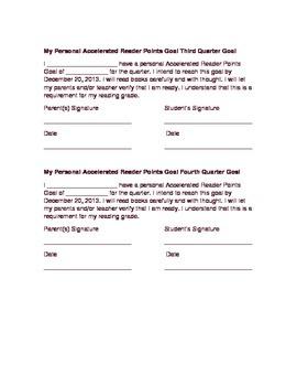 AR Goal Contract