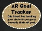 AR Goal Tracker - Burlap, Chalkboard, and Black Font