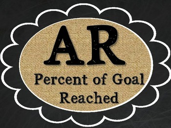 AR Goal Tracker - Burlap, Chalkboard, and Black Font