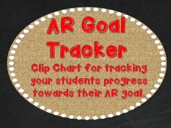 AR Goal Tracker - Burlap, Chalkboard, and Red