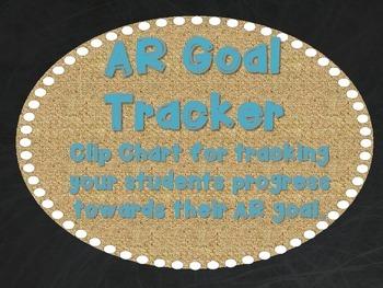 AR Goal Tracker - Burlap, Chalkboard, and Teal