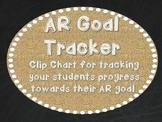 AR Goal Tracker - Burlap, Chalkboard, and White Font