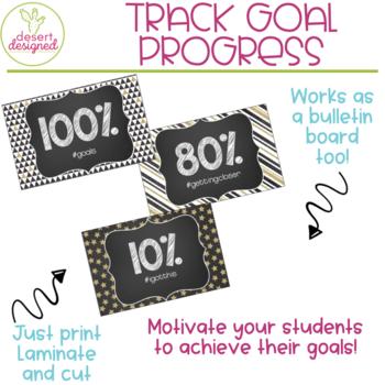 AR Goal Tracker Clip Chart - Black & Gold