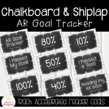 AR Goal Tracker Clip Chart - Shiplap & Chalkboard