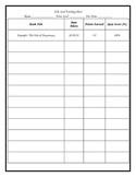 A.R. Goal Tracking Sheet