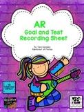 AR Goal and Test Recording Sheet FREEBIE