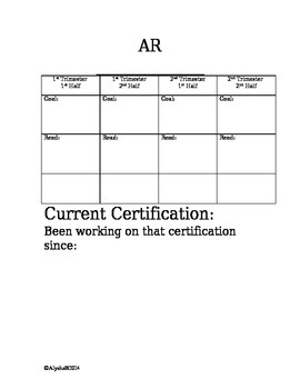 AR Goals & Certifications