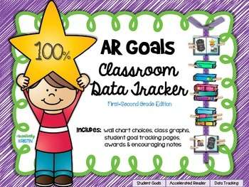 Accelerated Reader (AR) Goals Chart and Data Tracker {1st-2nd Grade Ed.}