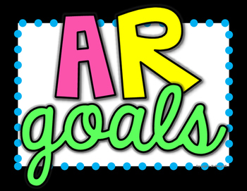 AR Goals Tracker - Tracking AR Percentages - Printable Posters