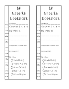 AR Growth Bookmark