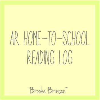AR Home-to-School Reading Log