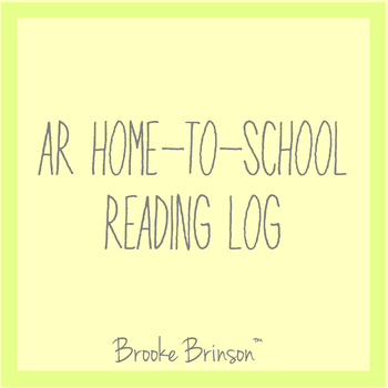 AR Home-to-School Reading Log