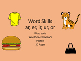 AR, IR, ER, UR Word Skills Pack... Common Core