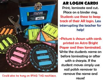 AR Log In CARDS ~ 2 Designs (B&W)