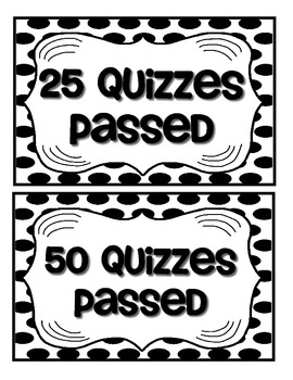 Accelerated Reader Mini Clip-Chart and Goal Pack {Black & White Polka Dots}