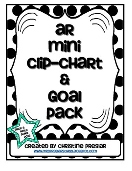 Accelerated Reader Mini Clip-Chart and Goal Pack {Black &