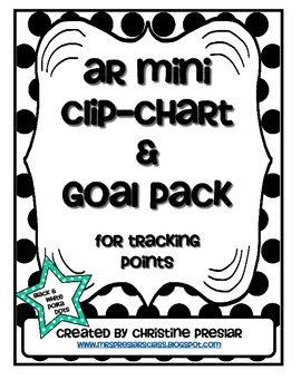 Accelerated Reader Mini Clip-Chart and Goal Pack - Points Tracker {Polka Dot}