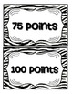 Accelerated Reader Mini Clip-Chart and Goal Pack - Points Tracker {Zebra}