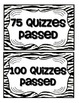 Accelerated Reader Mini Clip-Chart and Goal Pack - {Zebra}