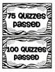 Accelerated Reader Mini Clip-Chart and Goal Pack - {Zebra}