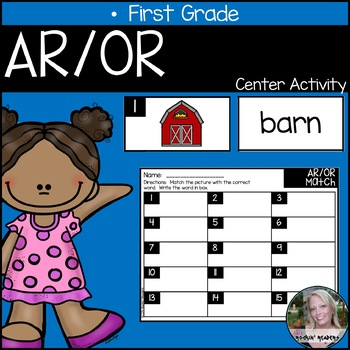AR/OR R-Controlled Vowels Literacy Center Activity