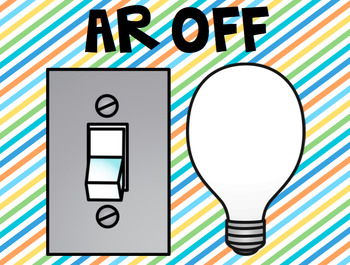 AR On and Off Signs