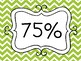 AR Percent Met Goal System Posters **Cute Stitched Chevron**