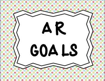 AR Percent to Goal Posters
