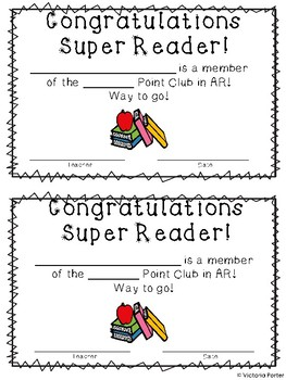 AR Point Club Certificates