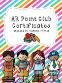 AR Point Club Certificates