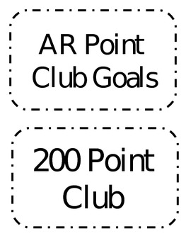 AR Point Goal Club Labels