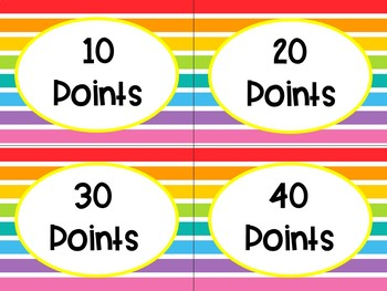 AR Points Clip Chart *Editable*