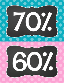 AR Points Clip Chart in Polka Dots & Chalkboard for Accelerated Reader