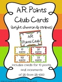 AR Points Club Cards (Bright Chevron & Stripes Theme)