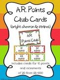 AR Points Club Cards (Bright Chevron & Stripes Theme)