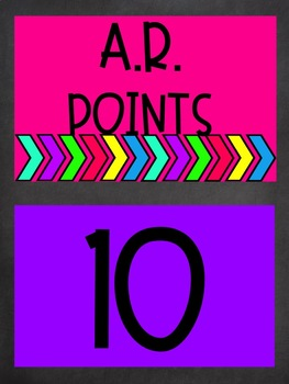 AR Points Tracker Bright & Chalkboard Themed