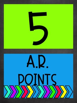 AR Points Tracker Bright and Chalkboard Themed