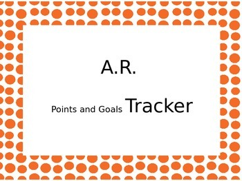 A.R. Points and Goals Tracker
