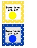 AR Polka Dot book bin labels