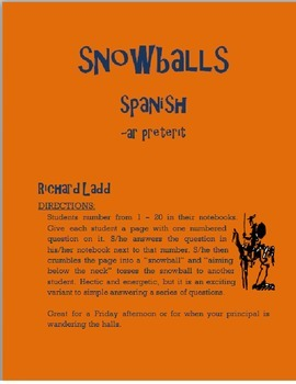 AR Preterit Snowballs SPANISH