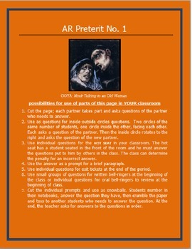 AR Preterit Worksheet #1 SPANISH