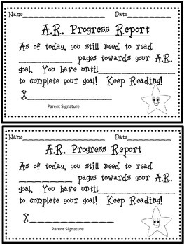 AR Progress Report Accelerated Reader Report