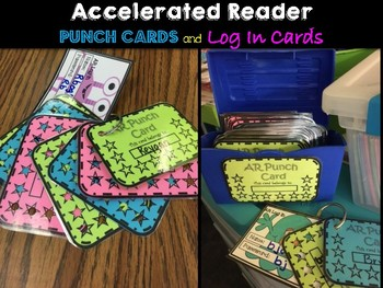 Accelerated Reader Punch Cards & Log In Card Bundle