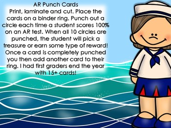 AR Punch Cards & Log In Cards ~ Nautical