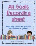 AR Quarterly Goal Sheet