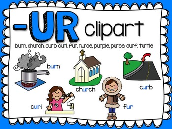 UR  R-Controlled Vowel Clipart by Teacher Laura