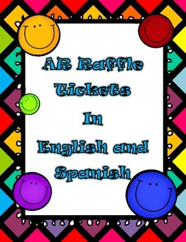AR Raffle tickets in English and Spanish