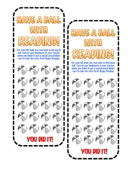 Accelerated Reader- (AR) Reading Bookmark