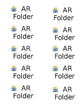 AR Reading Folder Labels