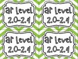 AR Reading Level Labels